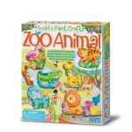 4M Mould & Paint Zoo Crafts Animal