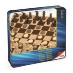 Cayro Chess And Draughts in Metal Box