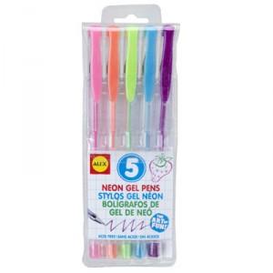 Alex 5 Neon Gel Pens