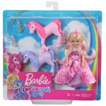 Barbie Chelsea Princess Doll & Baby Unicorn Gift-Set