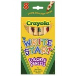 Crayola Write Start Coloured Pencils 3/4 Length 8Ct