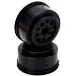 ECX Front and Rear Wheel, Black (2): 1:10 2WD Torment