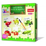 Funskool Play & Learn Let's Write Fruits & Vegetables Puzzle
