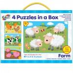 Galt 4 Puzzles in a Box - Farm