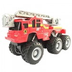 Maisto Fresh Metal Series Quarry Monsters - Fire Ladder Truck - Red