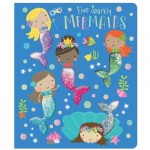 Make Believe Ideas Five Sparkly Mermaids Cased BB with 5 glitter pouches