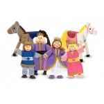 Melissa & Doug Royal Family Wooden Doll Set
