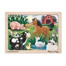 Melissa & Doug On The Farm Jigsaw (12 Pc)