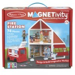 Melissa & Doug Magnetivity Playset Fire Station