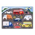 Melissa & Doug Transportation Peg Puzzle