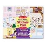 Melissa & Doug Reusable Sticker Pad - Play House