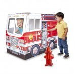 Melissa & Doug Fire Truck Indoor Cardboard Play House