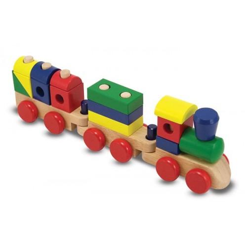 Melissa Amp Doug Stacking Train Toddler Toy