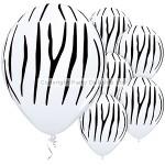 Qualatex Balloon - Zebra Stripe - 11 Latex - (Pack of 25)