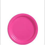 Amscan Paper Plate - Hot Pink - 17cm - (Pack of 50)