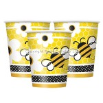 Unique Paper Cup - Busy Bees - 255ml - (Pack of 8)