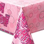 Unique Plastic Tablecover - Pink - 1.37x2.6m