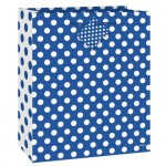 Unique Gift Bag - Blue Polka Dot