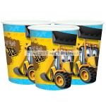 Amscan Paper Cup - JCB - 266ml - (Pack of 8)