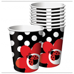 Creative Party Paper Cup - Ladybug - 256ml - (Pack of 8)