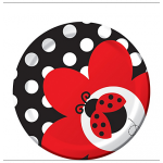 Creative Party Paper Plate - Ladybug - 17cm - (Pack of 8)