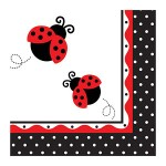 Creative Party Paper Napkin - Ladybug Party - (Pack of 16)