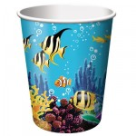 Creative Party Paper Cup - Ocean - 256ml - (Pack of 8)