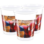 Unique Plastic Cup - Amazing Spiderman - 180ml - (Pack of 8)