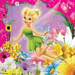 Unique Paper Napkin (2ply) - Disney Tinkerbell - (Pack of 20)