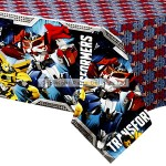 Amscan Plastic Tablecover - Transformers Prime - 1.2m x 1.8m