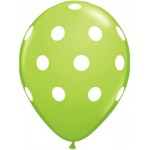 Unique Balloon - Green Decorative Dot - 12 Latex - (Pack of 6)