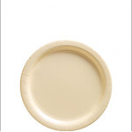 Amscan Paper Plate - Ivory - 17cm - (Pack of 50)