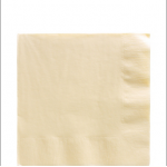 Amscan Paper Napkins (2ply) - Ivory - (Pack of 50)