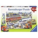 Ravensburger Busy Train Station 2 x 24 Puzzle