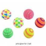 Toyrific 6.3cm Neon Printed Rubber Ball