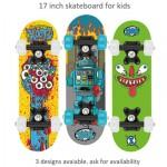 Xootz Mini Skateboard 17 inch - Assorted design