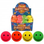 Toyrific Bouncy Smilee Face Balls 63 mm (3 inch)