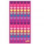 Yello Beach Towel Hearts