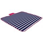 Yello Striped Fleece Picnic Rug
