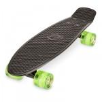 Xootz Pp Skateboard Led Black - 22 inch