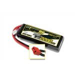 Yellow RC 2200mAh 11.1V 3S 35C LiPo Battery for Airplanes with Deans Plug